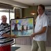 317 Handing over painting nr.302 to butcher's shop Graumans,Brasilia