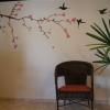 253 Muurschildering Kolibries