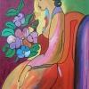 307 Vrouw met bouquet