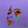 376 kleurrijk gezicht