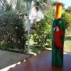 392 bewerkte aardewerk fles 1