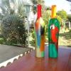 393 bewerkte aardewerk fles 2