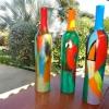 394 bewerkte aardewerk fles 3