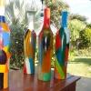 395 bewerkte aardewerk fles 4