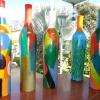 396 bewerkte aardewerk fles 5