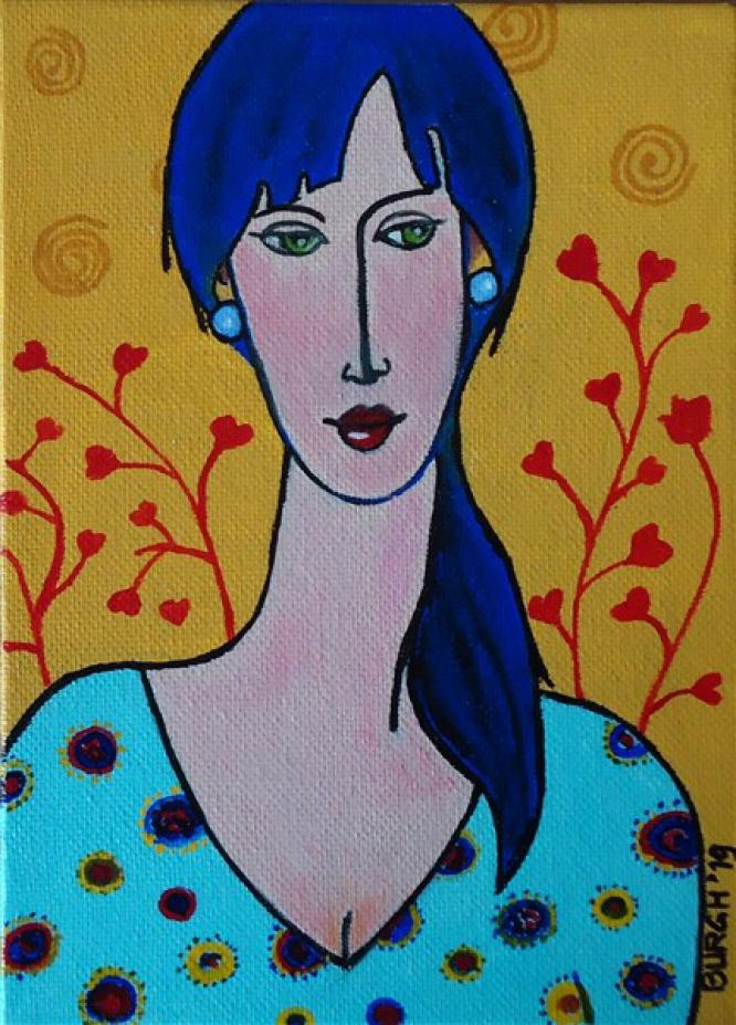 408 Lady in Blue